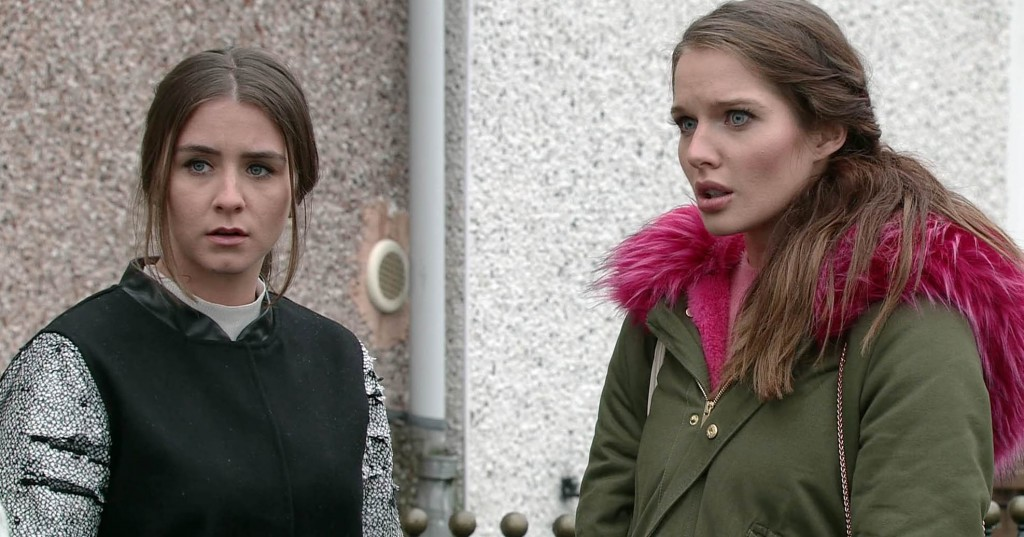 FROM ITV  STRICT EMBARGO - No Use Tuesday 31 January 2017 Coronation Street - 9096 Wednesday 8 February 2016  Having been released by the police Sophie Webster [BROOKE VINCENT] and Rosie Webster [HELEN FLANAGAN] decide to try and sort out the mess they have found themselves in but they are shocked by what they find out.  Picture contact: david.crook@itv.com on 0161 952 6214 This photograph is (C) ITV Plc and can only be reproduced for editorial purposes directly in connection with the programme or event mentioned above, or ITV plc. Once made available by ITV plc Picture Desk, this photograph can be reproduced once only up until the transmission [TX] date and no reproduction fee will be charged. Any subsequent usage may incur a fee. This photograph must not be manipulated [excluding basic cropping] in a manner which alters the visual appearance of the person photographed deemed detrimental or inappropriate by ITV plc Picture Desk. This photograph must not be syndicated to any other company, publication or website, or permanently archived, without the express written permission of ITV Plc Picture Desk. Full Terms and conditions are available on the website www.itvpictures.com