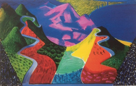hockney mountains
